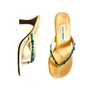 Steve Madden Turquoise Stone Heeled Sandals